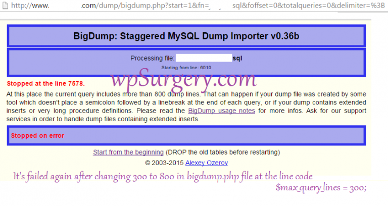 bigdump_largedatabasefile_failafterchanging300to800
